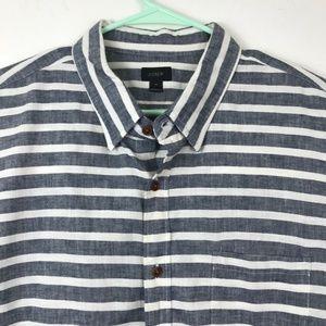 J. Crew Mens Shirt size XL Linen feel